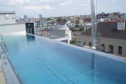 Geschäftslokal/Büro 88m² im Erdgesch., barrierefreier generalsan. Altbau, Wellnessbereich + Pool am Dach !