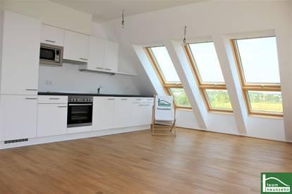 !!Dachgeschosswohnung - Provisionsfreier Neubau im Grünen 21. Bezirk - Mit Balkon - Küche inkludiert!!