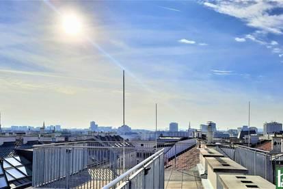 Helle ErstbezugDachgeschosswohnungen mit Terrassen und Wienblick in Zentrumsnähe!