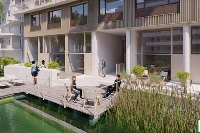 !!Lichtdurflutete Ateliers! Neubauprojekt mit Schwimmbiotop, einem Biosupermarkt sowie einer Traumdachterrasse mit Seeblick! Sehr nahe der U2 Seestadt!!
