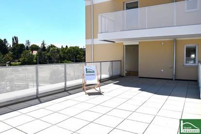 SICHERN SIE SICH EINE DER LETZTEN EINHEITEN! Riesige 43 m² Sonnenterrasse! In 9 min bei der U4! Neubau! Eden 13! SOFORT BEZIEHBAR!