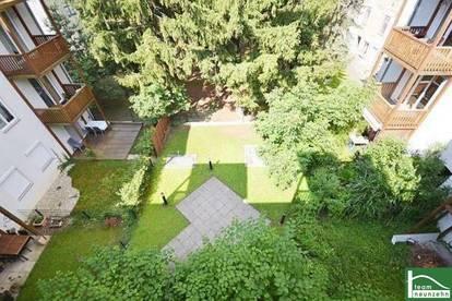 Grüne Aussichten - Hofruhelage im Zentrum - Großzügige Wohnküche - Eigener Garagenplatz - Wohnen auf 2 Etagen - Balkon