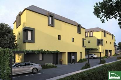 !NATUR PUR!- Tolle Doppelhaushälfte mit zwei Stellplätzen, Terrassen und Garten. Kunststofffenster inklusive! Erstbezug!!!