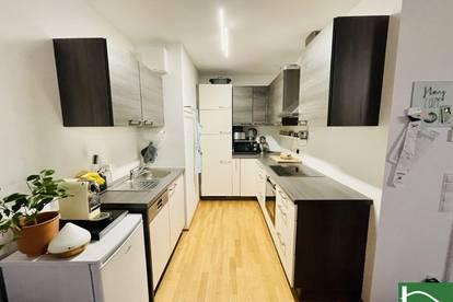 DIREKT NEUE DONAU! Moderner 73m2 Neubau mit 5 m2 Balkon, 2 Zimmer, Komplettküche! PÄRCHENHIT!