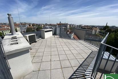 Moderne Ausstattung! Traumhafte Dachgeschosswohnung mit einzigartiger Dachterrasse im 21. Bezirk!