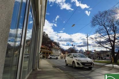 JETZT ZUSCHLAGEN! - Schickes Geschäftslokal in der Körösistraße! - tolle Innenstadtlage - riesige Schaufensterfront!