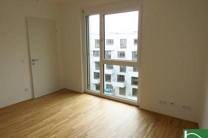 2-Zimmer Wohnung mit Balkon // Neubau Erstvermietung ohne Provision! // 56 m² Gesamtnutzfläche // hochwertige Einbauküche, Fußbodenheizung u. moderner Baustil!