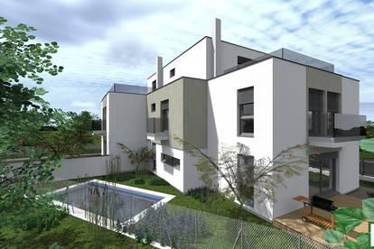 JETZT ZUSCHLAGEN! - Designerhaus- Blick zum Golfplatz- Wohntraum mit Keller in Leopoldsdorf- inklusive Pool