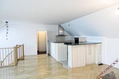 Moderne Maisonette-Wohnung in zentraler Lage - Dachterrasse und Garage!
