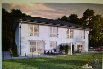 Sehr gut gelegene Doppelhaushälften in Langenzersdorf bei Wien - Holzrahmenbauweise - Pachtgrund