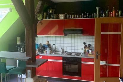 GU_NORD Übelbach, Wohn-Küche, Bad und Schlafzimmer