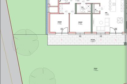 Straßgang Gartenwohnung mit 3 Zimmer! Frühjahr 2021 beziehbar! Prov-frei