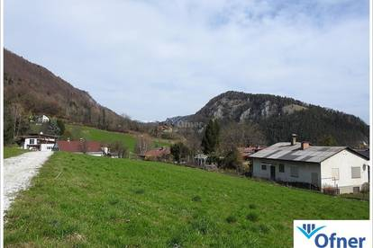 Baugrundstück in leicht erhöhter Lage mit Blick über die Lipizzanerheimat