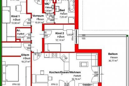 Anlageobjekt: tolle, vermietete 4-Zimmer-Familienwohnung in Voitsberger Toplage