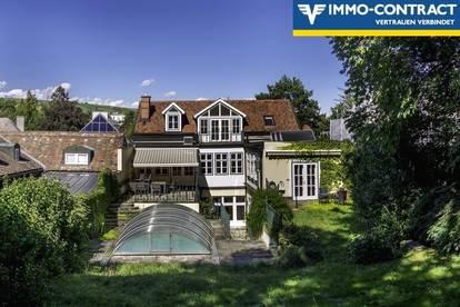 Stilvilla im Botschaftsviertel Grinzing: Pool, Weinkeller, Garten, Garage