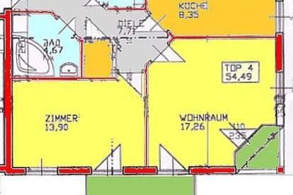 Provisionsfrei: 2-Zimmer-Wohnung mit Kleinterrasse im Univiertel