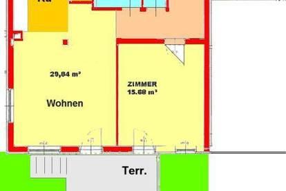 Großzügige 2-Zimmerwohnung mit Garten und Stellplatz