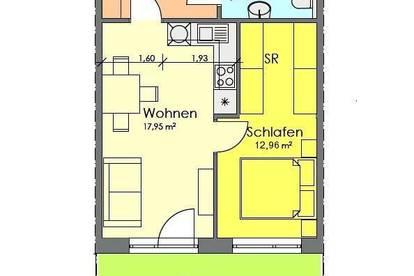 Neubau - 2-Zimmerwohnung mit Terrasse und Stellplatz direkt bei LKH