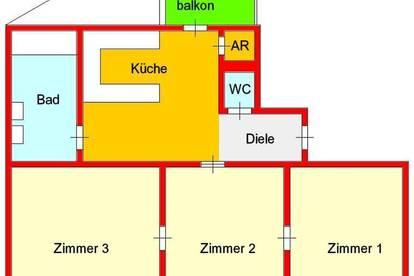 3-Zimmer-Altbauwohnung Nähe Schillerplatz