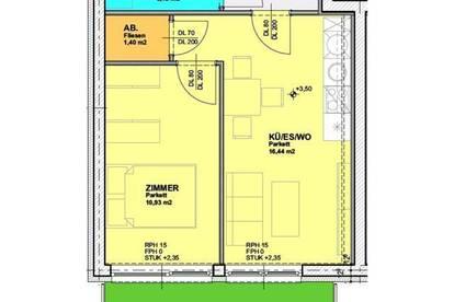 modernes 2-Zimmer-Neubau-Apartment mit Terrasse bei TU - ab 01.01.2020