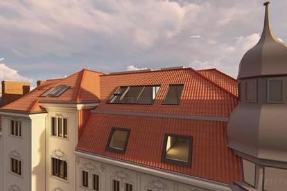 Top DG-Galerie-3-Raum-Wohnung! Erstbezug mit Turm-Loggia im Herzen der Josefstadt