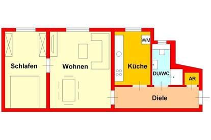 2-Zimmerwohnung in Top-Lage bei UNI