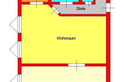 2 Zimmer-Dachgeschoßwohnung mit extra Küche - nähe Griesplatz