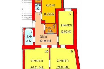 3-Zimmer Altbauwohnung mit Balkon im Stadtzentrum