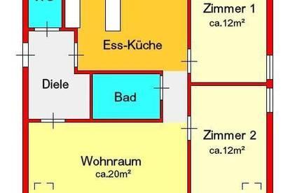 Provisionsfrei: teilmöblierte 3-Zimmer-Dachgeschoßwohnung mit Balkon und 2 Tiefgargaenplätzen in Kalsdorf bei Graz