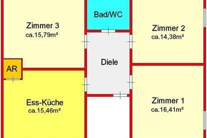 neu sanierte 3-Zimmerwohnung mit Garage und kleiner Gartenfläche in Gratwein