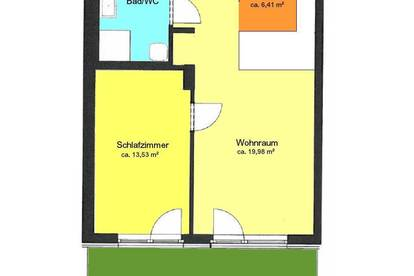 Neuwertige - 2 Zimmerwohnung mit kleiner Terrasse in St. Peter