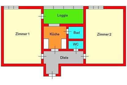 Provisionsfrei *) Perfekte 2er WG-Wohnung in bester UNI-Lage