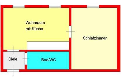 Provisionsfrei *) günstige 2-Zimmer-Wohnung zentral bei Dietrichsteinplatz