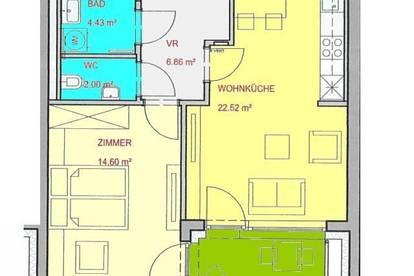 Neubau-Apartment mit kleiner Terrasse in Top Lage zwischen UNI und LKH