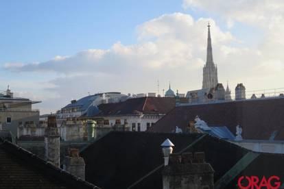 Juwel nahe dem Stephansdom. Einzigartige 4-Zimmer-Altbauwohnung mit Balkon in 1010 Wien zu mieten
