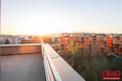 Erstbezug - hochwertige Dachgeschosswohnung mit Blick über Wien in 1210 Wien zu mieten
