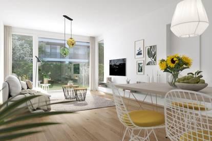ESCHENGARTEN: Drei Zimmer Wohnung mit Garten provisionsfrei für den Käufer - zu kaufen - 1230 Wien