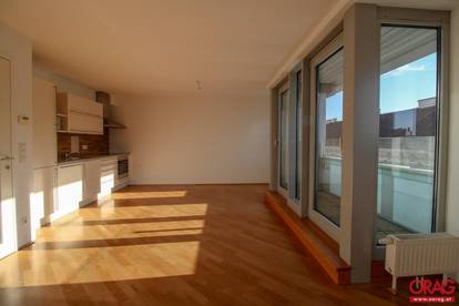 Sonnige 2-Zimmer Dachgeschoßwohnung mit kleiner Terrasse nahe Naschmarkt - Miete in 1040 Wien