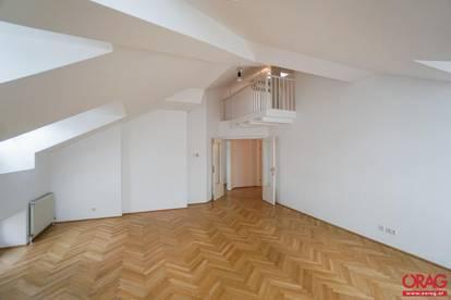 Innen Stadt Traum: Dachgeschoßmaisonettewohnung in stilvollem Jahrhundertwendehaus - Miete 1090 Wien