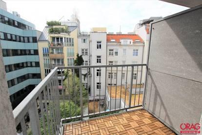 Innenhof Wohnung mit 2 Zimmer und Balkon in 1050 Wien ab sofort zu mieten