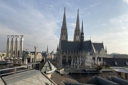 Dachgeschoss Maisonette mit großzügiger Terrasse mit herrlichem Ausblick