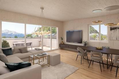 Penthouse-Wohnung mit 3 Zimmern und großzügiger Dachterrasse