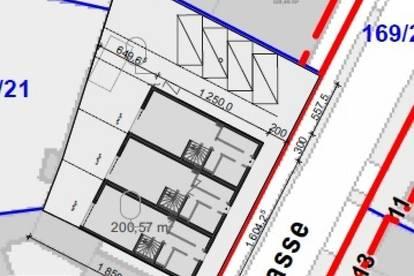 AKTUELL: Grundstück zur Errichtung von 3 Reihenhäusern
