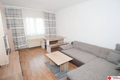 Schwechat: Wohnglück - zentrumsnahe 2 Zimmer Mietwohnung voll möbliert mit sonniger Loggia!