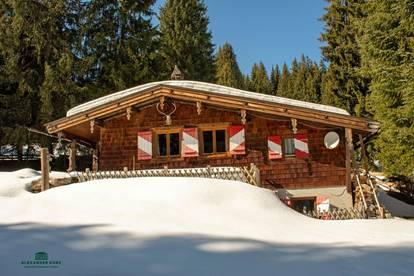 Ski-/Almhütte im Skigebiet Saalbach-Hinterglemm
