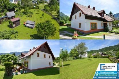 Wohnhaus mit ca. 260m² Wohnfläche und ca. 2350m² Grund in toller Lage in Spital am Pyhrn