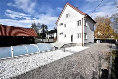 Schön gelegenes Wohnhaus mit herrlichem 1500m² großen Grundstück, Pool und Garage in ruhiger Siedlungslage