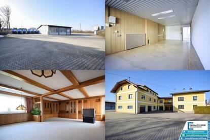 6150m² Betriebsliegenschaft mit Halle, Freifläche, Tankstelle, Büro, Wohngebäude mit über 600m² Wohnfläche und 5 Garagen