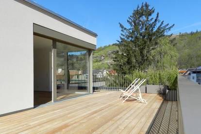 122 m² Penthouse mit 54 m² Dachterrasse - Blick auf Kremsfluss! P2-TOP 15