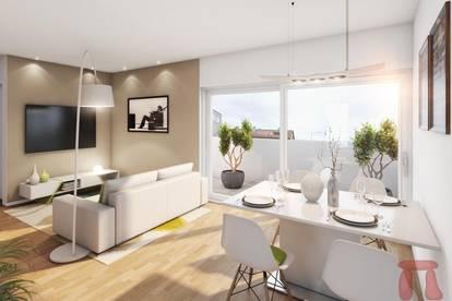 Heute kaufen, Ende 2020 bezahlen: 2-Zimmer-Renditewohnung mit Terrasse und Dachgarten
